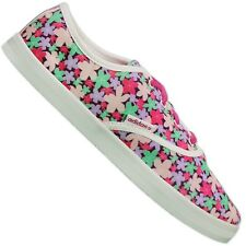 Adidas Neo Floral Pink Red Green White Canvas Summer Festival Shoes 41 1/3 UK