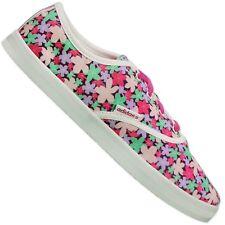Adidas Neo flores fucsia rojo verde blanco Lona Verano Zapatos 41 1/3GB 7.5