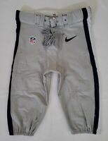 Dallas Cowboys NFL Team Issued Silver Football Pants - Size 36 Short wBelt 2015