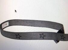 Myself Belt Girls Rockstar Canvas Belts Silver Black XS EZ VelcroFasten NEW Kids