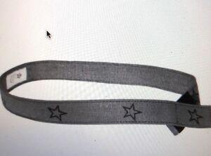 Girls Myself Belt Rockstar Canvas Belt Silver Black XS EZ VelcroFasten NEW Kids