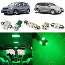 7x Green LED lights interior package kit for 2003-2008 Toyota Matrix TM2G