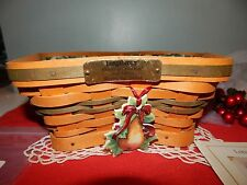Longaberger Shining Star Basket 2001 Fabric & Protective Liners Christmas Love