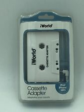 iWorld Cassette Adapter Nwt iPod iPhone Mp3 Compatible
