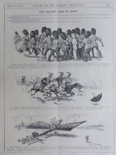 QUEEN'S campate 2nd GDS-LANCERS-esercito FLYING CORPS marzo 18A 1914 PUNCH CARTOON