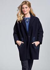 Warm Navy Cocoon Coat Size 16 RRP £110