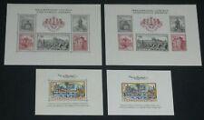 Czechoslovakia 719, 1134 1955,1962 perf + imperf Philatelic Exhibition S.S. Nh