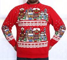 * VINTAGE VICTORIAN ROW HOUSES UGLY CHRISTMAS SWEATER SWEATSHIRT LG/MEN WMN/XL