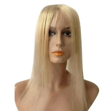 Topper Hairpiece Clip in 100% Human Hair Straight Remy Hair Top Toupee Blonde