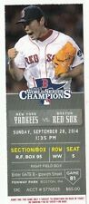 2014 NY YANKEES VS RED SOX TICKET STUB KU 9/28/14 DEREK JETER LAST GAME FENWAY