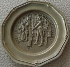 Keep Thy Shop and... - Franklin MInt Miniature Collectible Plate - VGC BRONZE