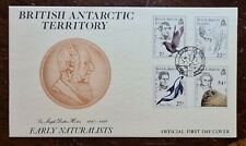 1985 British Antarctic Territory. Early Naturalists First Day Cover FDC