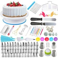 Cake Decorating Kit Turntable Rotating Baking Flower Icing Piping Nozzles Tool