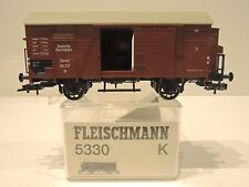 Fleischmann 5330 K. Gedeckter Güterwagen  !!RP 25 Speichenräder!! TOP!!! OVP