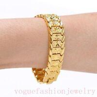 Herren Armband 23 cm 750 Gold 18k vergoldet Geschenk