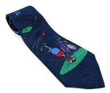 """FORE! Men's Tie Golfing Pattern Novelty Sports Blue Made in USA 56"""" x 3.75"""""""