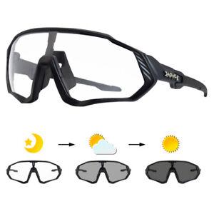 Photochromic Sunglasses UV400 Mountain Bike Glasses Sports Cycling Goggles