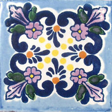 C#008) 9 MEXICAN TILES LOT TALAVERA MEXICO CERAMIC ART CLAY
