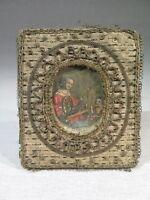 Santa Maria Antigua Pequeña Miniatura Grabado Realzado Época XVIII Siglo