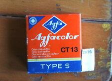 AGFACOLOR CT 13, Type S, 7,50m; Color- Umkehr- Film; OVP;  abgelaufen: Juli 1973