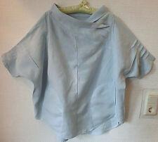 Deerberg/ OSKA - linen top with pretty collar-loose fit- light blue-size M