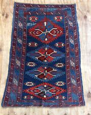 Antique Caucasian Hand Woven  Rug Dated