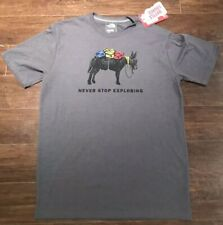 The North Face Men's Medium Bottle Source Donkey Logowear Grey T-shirt **NWT**