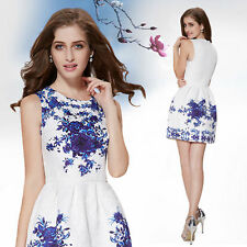 Regular Size Floral Ball Gown Casual Dresses for Women