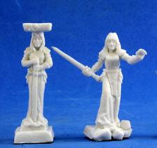 2x COLONNE CARYATID - BONES REAPER figurine miniature rpg jdr column colum 77378