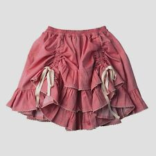 Paper Wings boutique girls red chambray drawstring bustle ruffle skirt 10-12
