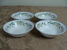 4 Casa Mia Alloro Floral Pattern Soup/Salad Bowls