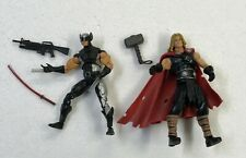 MARVEL UNIVERSE LOOSE THOR AND WOLVERINE LOT OF 2