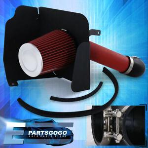 For 07-08 Silverado Sierra 1500 V8 Red CAI Pipe Air Intake System +Heat Shield