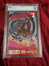 Daredevil #1 CBCS 9.8 White Pages Marvel Comics Waid Reboot Like CGC PGX