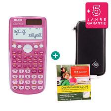 Casio fx 85 GT plus Pink calculadora + funda protectora de aprendizaje CD de garantía