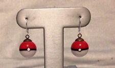 Glass Pokeball Earrings, 925 SS Hooks, Artisan Made