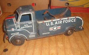 "Vintage United States Air Force 18"" Truck Marx Lumar 1950's Pressed Steel"