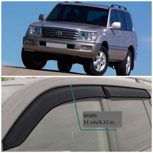 TE21598 Window Visors Vent Wide Deflectors For Toyota Land Cruiser 100 1998-