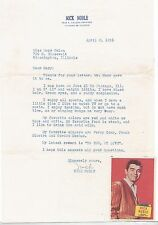 """HEART THROB NICK NOBLE 1956 """"TO YOU,MY LOVE"""" SIGNED TYPED LETTER TO A FAN"""