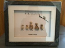 Pebble Art Picture Box Frame Present My Family Rocks Cat Dog 8 X 10 Family Pets