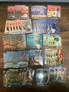 (106) 1990's STADIUM CLUB LEAF PINNACLE + ALL ROOKIES RC CARDS LIQUIDATION LOT !