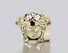 """Versace Medusa Buckle Yellow gold head For 1 3/8"""" belt straps Made in Italy"""
