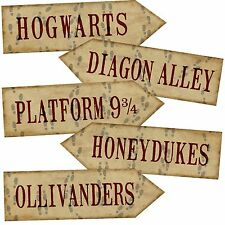 Set of 5 Harry Potter Arrows/signs Prop Printed Party/room Decoration 350gm Card