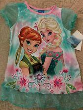 Girls Frozen Aqua Nightgown Size 2T NWT