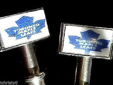 2  Maple Leafs Metal Cribbage Pegs ChristyMade With Free Black Velvet Pouch  _