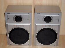 Philips F9312 2-Way Bookshelf Speakers * Excellent condition * Vintage Rarity *