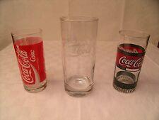 3 Coca-Cola Gläser Coke, zylindrisch, 0,3l und 0,2l