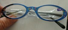 Hand painted blue  reading glasses +1.50    women