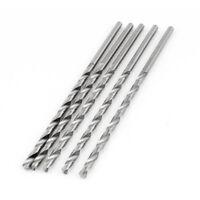 5 x Straight Shaft 3.3mm High Speed Steel Twist Drilling Hole Iron Drill Bits