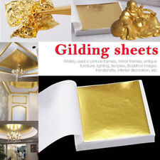100X Gold Foil Leaf Paper Food Cake Decor Gilding Christmas Decoration